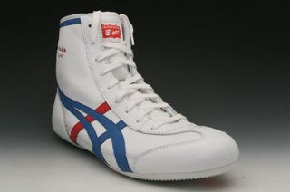 Tiger by Asics Wrestling 81 Womens Sneaker White/Blue D2K9L 0142