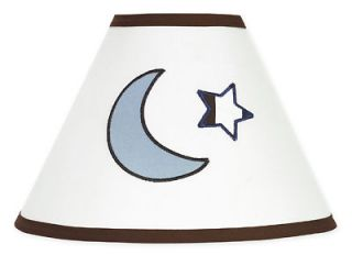 SWEET JOJO DESIGNS LAMP SHADE FOR WHITE BLUE STARS MOONS BABY KIDS