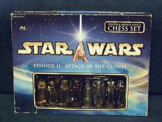 STAR WARS(EPISODE IIATTACK OF THE CLONES) 2002 PEWTER/BRONZE CHESS