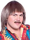 MENS SONNY BONO HALLOWEEN COSTUME WIG AND MUSTACHE SET