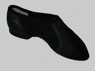 BLOCH FLEX JAZZ DANCE SHOES SLIP ON BLACK CHILD SIZE 10 EUC L@@K ;)