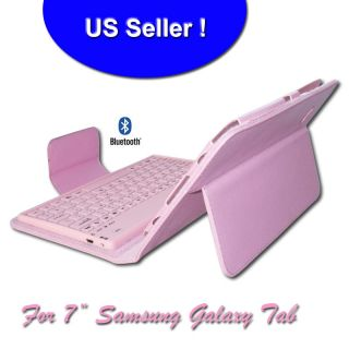 Wireless Bluetooth Keyboard Leather Cover Case PINK Samsung Galaxy Tab