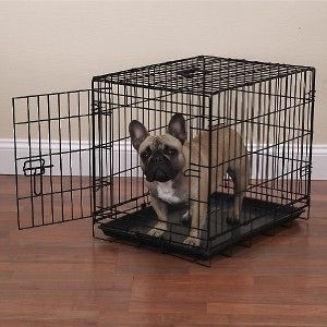 Appeal Economy 30 Med Black Folding Dog Cage/Crate w/Plastic Pan
