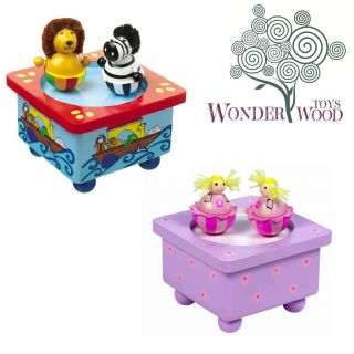 Orange Tree Toys Dancing Ballerina Music Box, Noahs Ark Music Box
