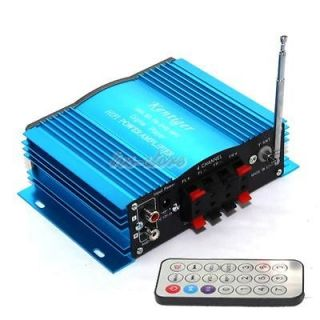Blue MA200 4X41W Motorcycle Car Computer Power Amplifier /WMA/FM
