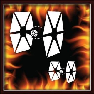 TIE FIGHTERS STAR WARS airbrush stencil template motorcycle paint