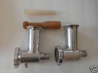 Vintage cast iron meat grinder Dormeyer set