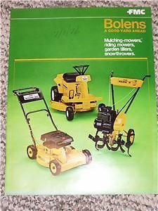 Vintage Bolens Riding/Push Mowers/Tiller Sales Brochure