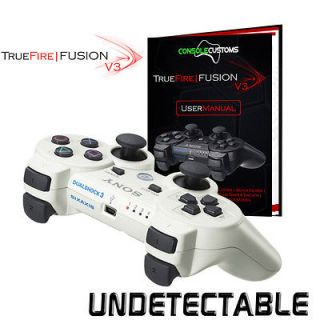 PS3 WHITE TrueFire FUSION V3 Rapid Fire Controller Drop Shot/Quick