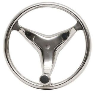 13 1/2 INCH STAINLESS STEEL BOAT STEERING WHEEL w/ CONTROL KNOB