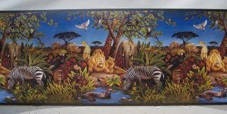 JUNGLE ANIMALS LIONS ZEBRAS GIRAFFE Wall Border 9