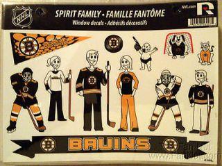 Boston Bruins Family Spirit Window Decal Sheet NHL Hockey