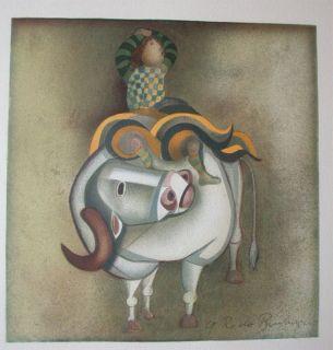 Graciela Rodo Boulanger lithograph, chllean, listed