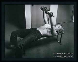 Marilyn Monroe with Weights by Philippe Halsman Pumping Iron 28x22