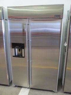 Jenn Air 48 Inch Stainless Steel Side by Side Refrigerator JS48SEDBDA