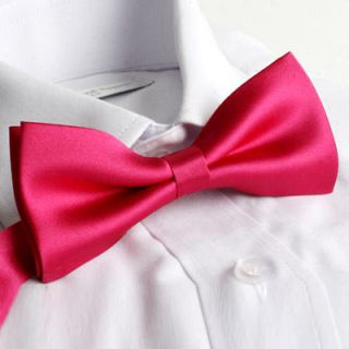 Bow Tie★4.92Mens Basic Tie/Tuxedo Bow Tie/Womans Bow Tie/Pink Tie