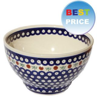 Polish Pottery Bowl 8.5 from Zaklady Boleslawiec Polish Stoneware