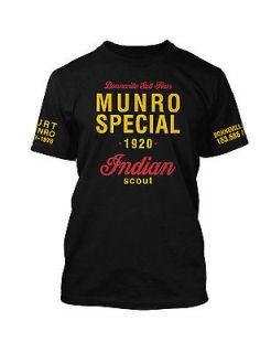 Vintage Burt Munro Indian Scout Bonneville Salt Flats retro t shirt