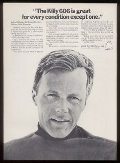 1970 Jean Claude Killy GREAT photo Head skis print ad