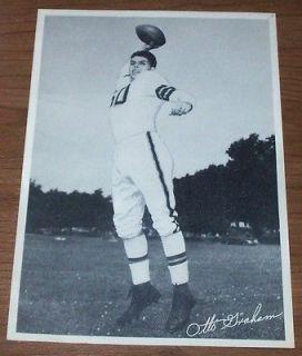Original 1950s Cleveland Browns Otto Graham Black & White 6 by 9
