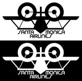 2x CUSTOM MADE COLLECTIBLE SANTA MONICA AIRLINES SMA MAGNET (3¼x1⅝