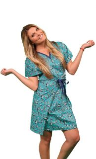 Privacy Hospital Gown   w/ front tie and shoulder snaps