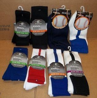 NWT Easton/Game Sport Adult/Youth Pro Baseball Socks Shoe Size 4 10/9