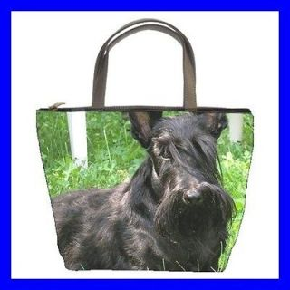 Bucket Bag Handbag BLACK SCOTTISH TERRIER Pet Dog Puppy (21647989)
