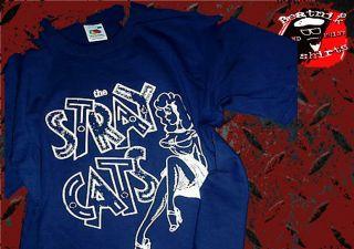 STRAY CATS T SHIRT S M L XL XXL   ROCK A BILLY ROCK N ROLL