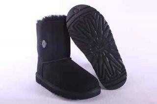 UGG KIDS GRADE SCHOOL BLACK BAILEY BUTTON 5991 BLK