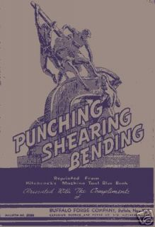 Buffalo Forge Punching Shearing & Bending Manual
