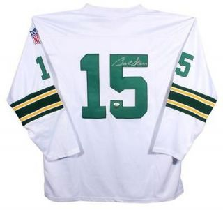 Bart Starr Signed Jersey   Packers Custom   Witness   JSA Certified