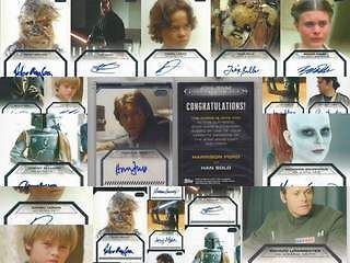 Star Wars Galactic Files Autograph Singles Park Bulloch Mayhew ++