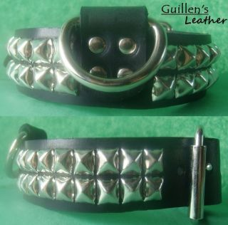 leather dog collar in Spiked & Studded Collars