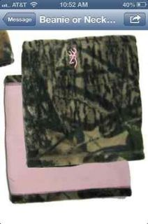 Browning Womens Camo Reversible Fleece Neck Gator Mossy Oak New Break