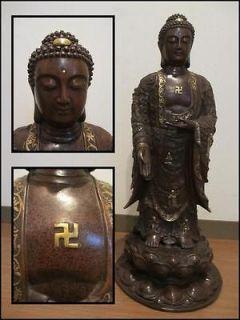 KANNON Buddha SWASTIKA (for Eternity Prosp erity Abundanc e) Statue