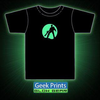 Evil Dead Ash Bruce Campbell Zombies Tribute Unisex GLOW GEAR Vinyl T