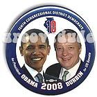 President Barack Obama Dick Durbin Illinois Jugate Pin Button Pinback