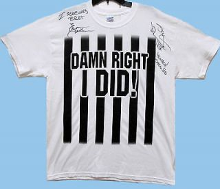 WWE SHAWN MICHAELS + EARL HEBNER SIGNED I SCREWED BRET T SHIRT MENS
