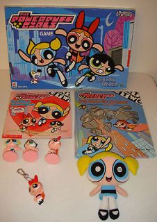 Powerpuff Girls Board Game Plush Doll PVC Cake Topper Figures Books