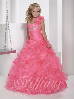 NEW Tiffany Girls Pageant Dress Bubblegum Pink Size 8 Style 13343