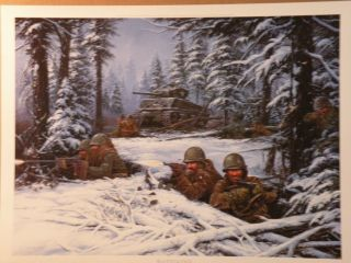 John Paul Strain BASTOGNE L E # 288 of 1945 (U.S. Armys 4th & 101st