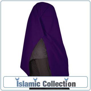 Dark grey satin Niqab veil burqa islamic clothes Hijab khimar sunnah