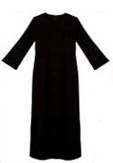 Elegant Plain girls / kids Black Abaya Burka Jilbab
