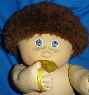 Cabbage Patch Kids HTF Jesmar Boy Doll Brown Fuzzy Purple Freckles #4