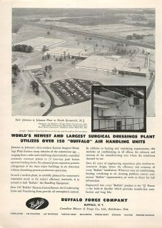 1958 Buffalo Forge Largest Surgical Dressing Plant Ad