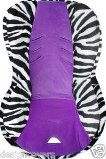 COOL BRITAX ROUNDABOUT BABY SEAT COVER ZEBRA WHITE PURP