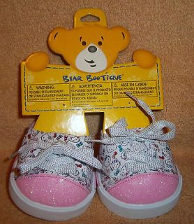 Build A Bear HELLO KITTY SPARKLE SNEAKERS, Tennis Shoes NEW