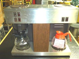 BUNN POUR OMATIC COMMERCIAL COFFEE MAKER BREWER w/ 3 BURNERS, VPS