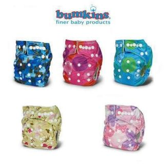 NEW Bumkins Stuff it One Size OS Cloth Pocket Diaper Snaps Choose